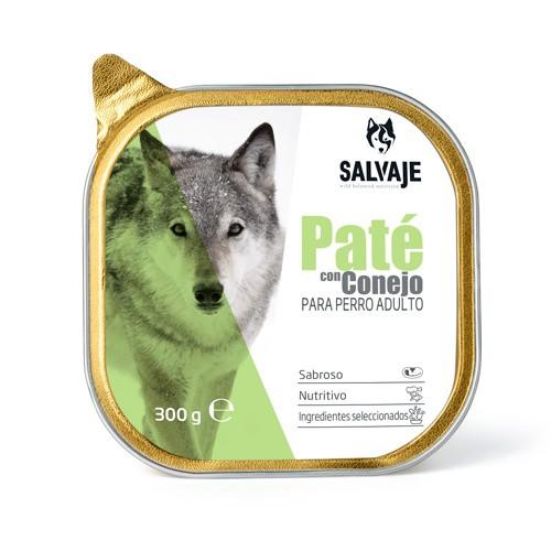 Tarrina de Paté Salvaje con conejo para perros