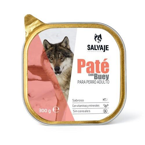 Tarrina de Paté Salvaje con buey para perros