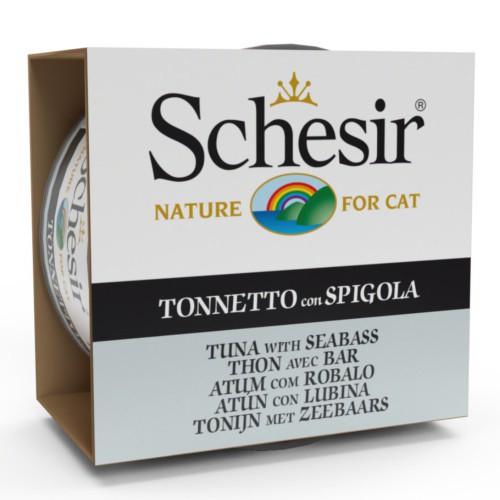 Comida húmeda Schesir atún con lubina en gelatina