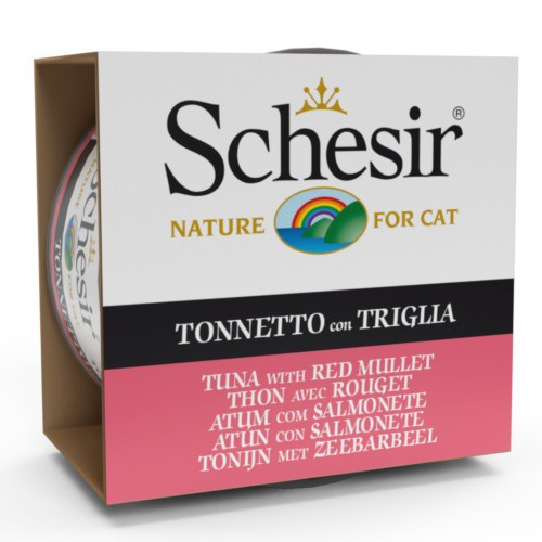 Comida húmeda Schesir atún con salmonete en gelatina