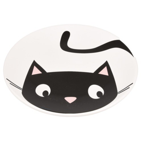 Plato de cerámica para gatos Guus blanco