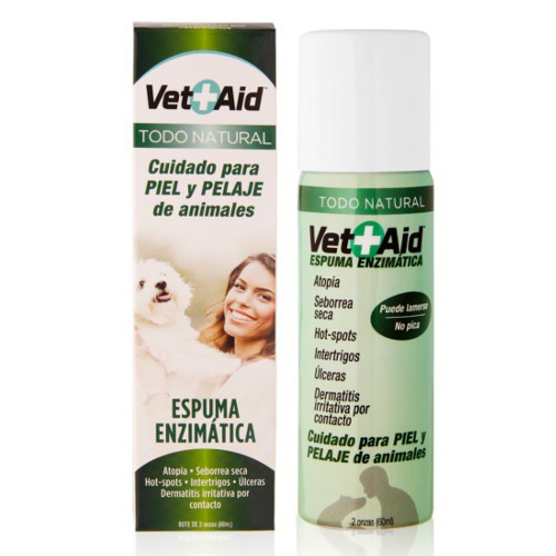 VetAid espuma enzimática para cuidado de la piel