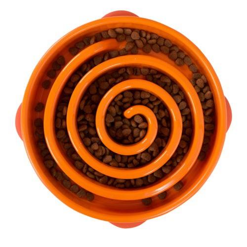 Comedero lento Fun Feeder Swirl naranja