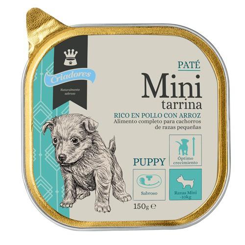 Mini tarrina Paté Criadores Pollo y arroz para cachorros