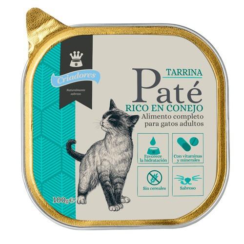 Tarrina de Paté Criadores con Conejo para gatos