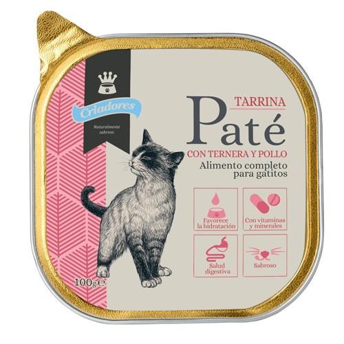Tarrina de Paté Criadores Ternera y pollo para gatitos