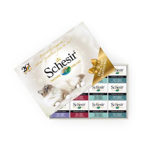 Caja regalo Schesir comida húmeda para gatos