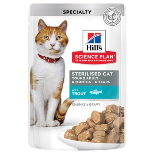 Hill's Sterilised húmedo con trucha para gatos