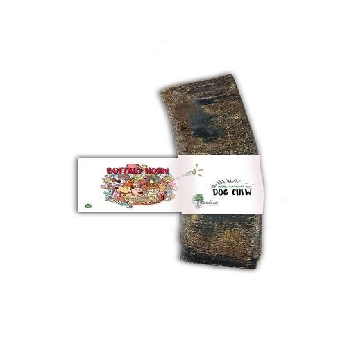 Mordedor para perros BiMordiscos de cuerno de búfalo comestible en color marrón
