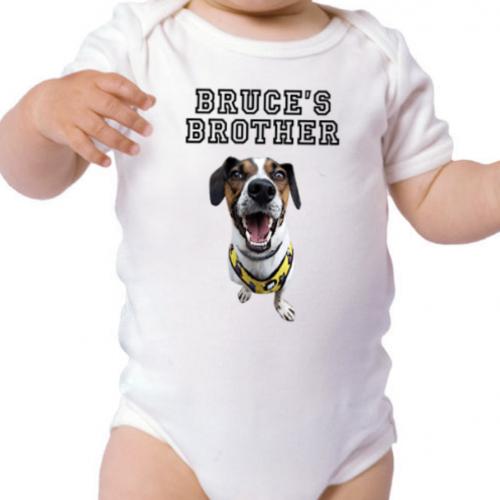 Body de bebe personalizado color Blanco