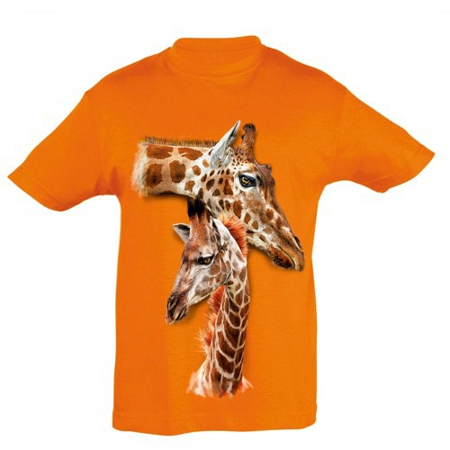 Camiseta para niños Ralf Nature jirafas color naranja