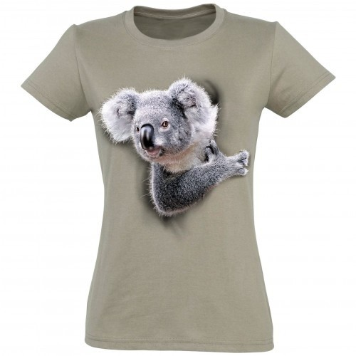 Camiseta Koala Mujer color BEIGE