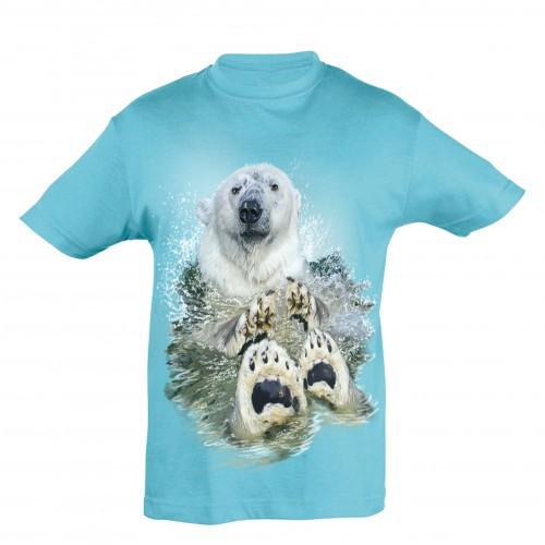 Camiseta Niño Oso Polar Agua color Azul
