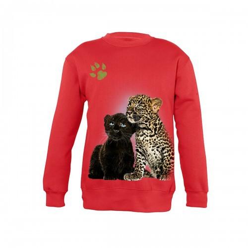Sudadera Niño Tigre y Pantera bebés color Rojo
