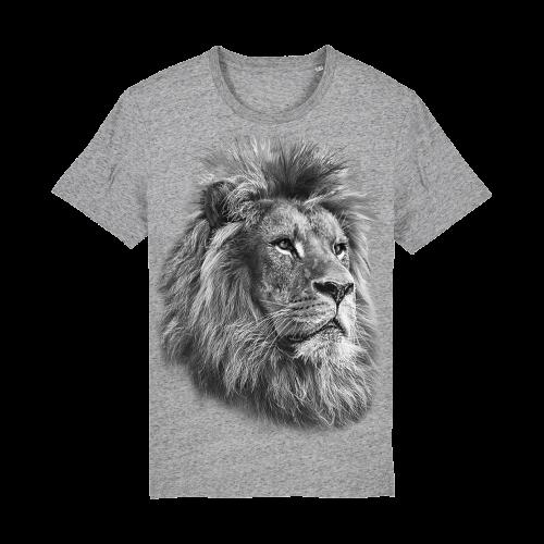 Camiseta Ralf Nature león monocromática gris