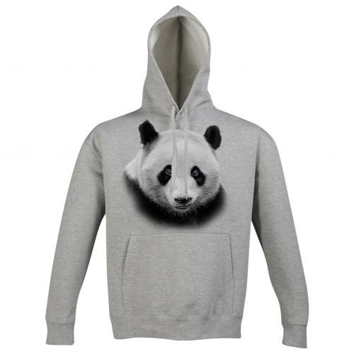 Sudadera con gorro Panda color Gris