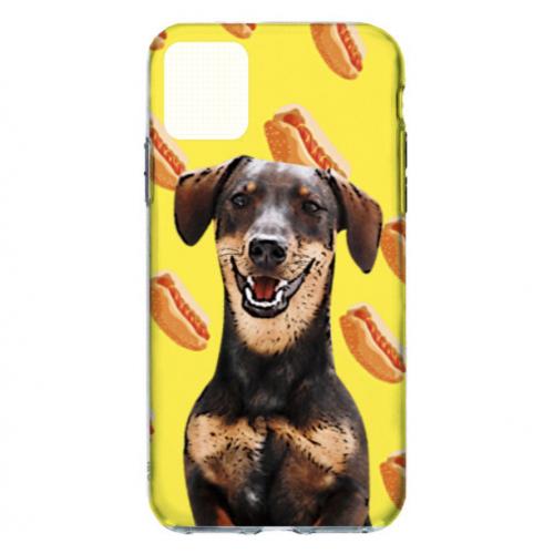 Carcasa de móvil personalizada perritos color Amarillo