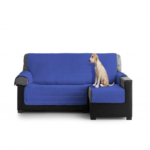 Cubre Sofa Acolchado Chaise Longue Derecho color Azul