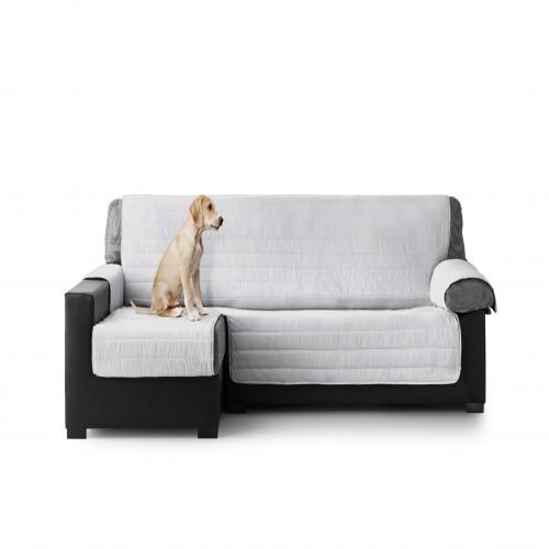 Cubre Sofa Acolchado Chaise Longue Izquierdo color Gris Claro