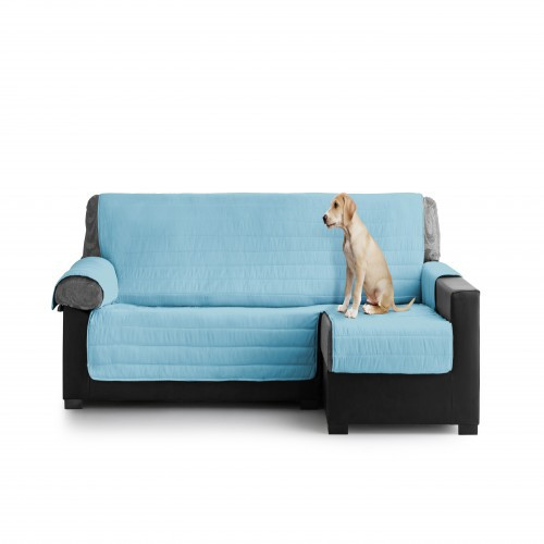Cubre Sofa Acolchado Chaise Longue Derecho color Turquesa