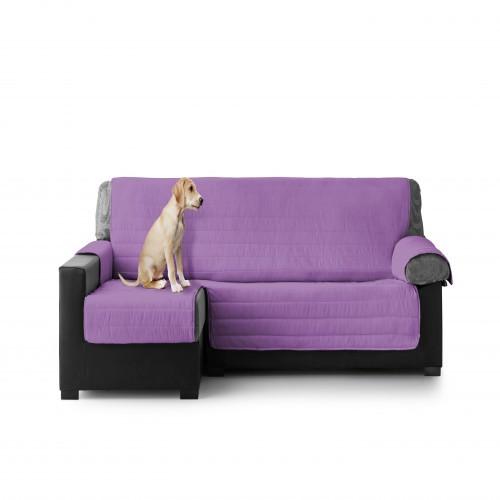 Cubre Sofa Acolchado Chaise Longue Izquierdo color Lila