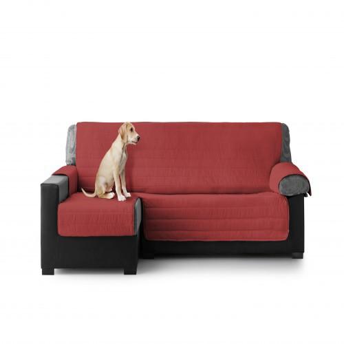 Cubre Sofa Acolchado Chaise Longue Izquierdo color Granate