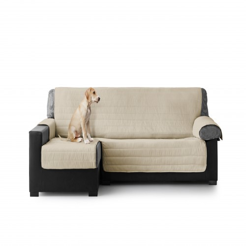 Cubre Sofa Acolchado Chaise Longue Izquierdo color Crudo