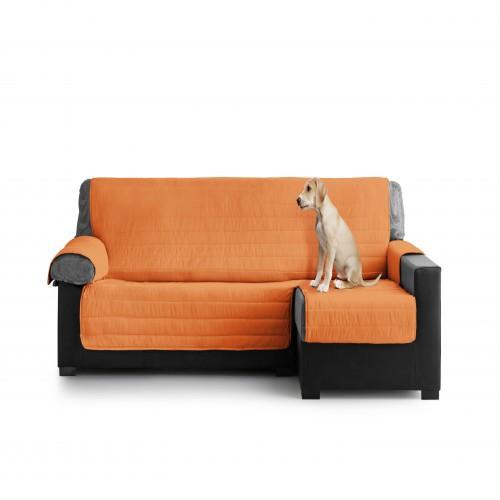 Cubre Sofa Acolchado Chaise Longue Derecho color Naranja