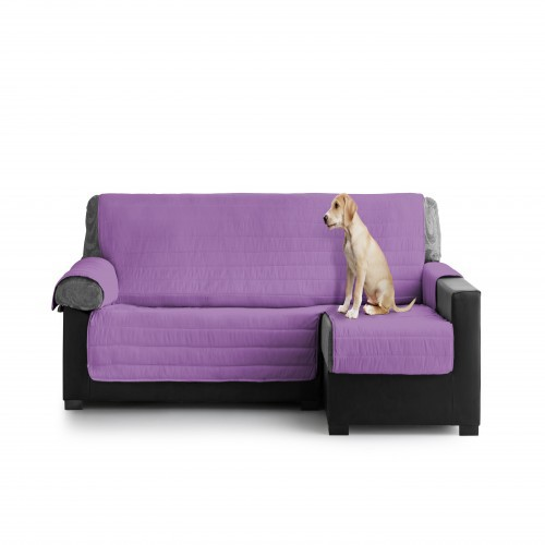 Cubre Sofa Acolchado Chaise Longue Derecho color Lila