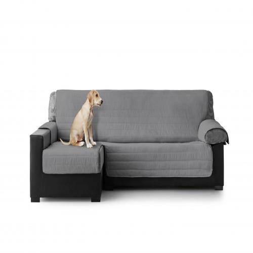Cubre Sofa Acolchado Chaise Longue Izquierdo color Gris Oscuro