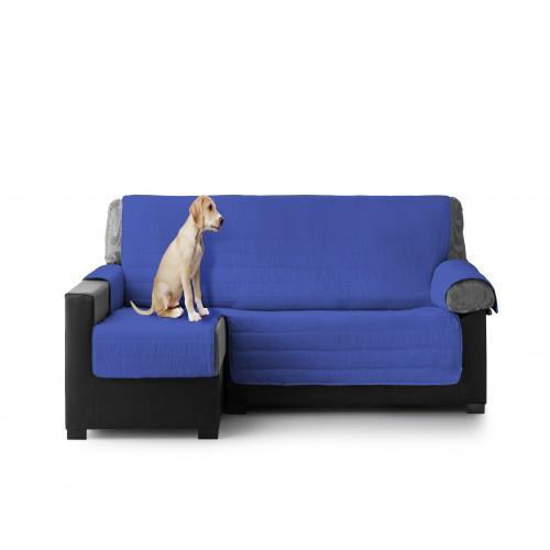Cubre Sofa Acolchado Chaise Longue Izquierdo color Azul