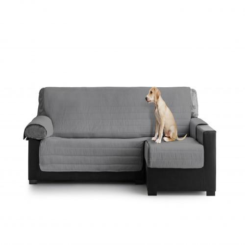 Cubre Sofa Acolchado Chaise Longue Derecho color Gris Oscuro