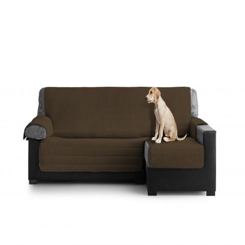 Cubre Sofa Acolchado Chaise Longue Derecho color Chocolate