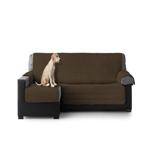 Cubre Sofa Acolchado Chaise Longue Izquierdo color Chocolate
