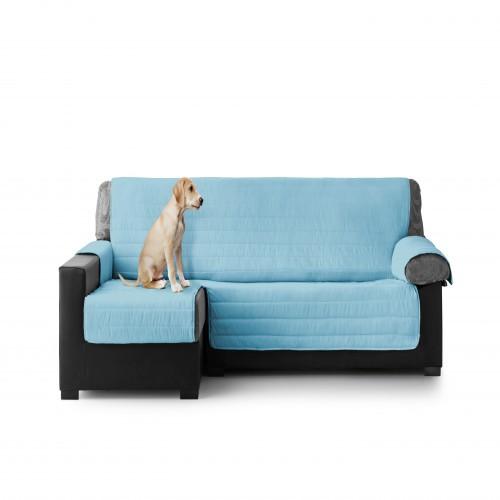 Cubre Sofa Acolchado Chaise Longue Izquierdo color Turquesa