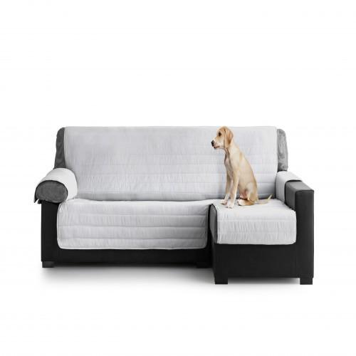 Cubre Sofa Acolchado Chaise Longue Derecho color Gris Claro