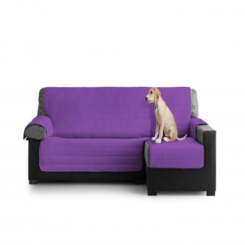 Cubre Sofa Acolchado Chaise Longue Derecho color Fucsia