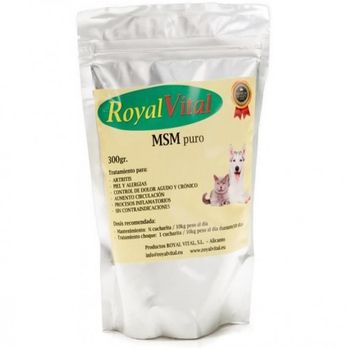 Suplemento nutricional para perros y gatos MSM puro Royal Vital con azufre natural