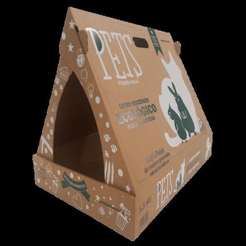 Caja de pellet para gatos 100% ecológica grande
