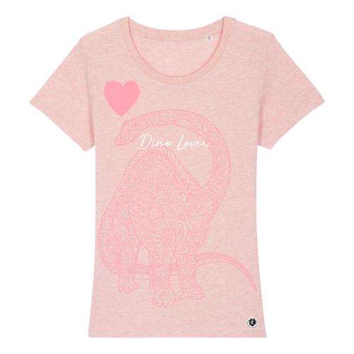 Camiseta Mujer Dino Lover color Rosa