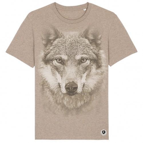 Camiseta Lobo monocromático color BEIGE