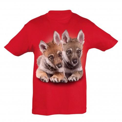 Camiseta Niño Lobeznos color Rojo