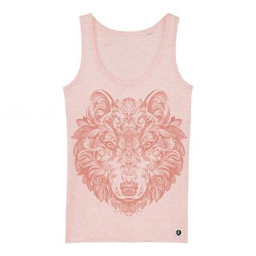 Camiseta de tirantes Ralf Nature lobo mandala rosa