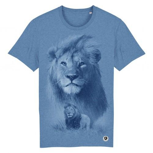 Camiseta Escena León Monocromática color Azul