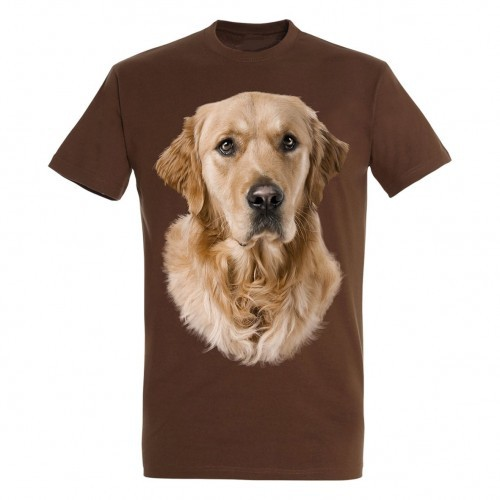 Camiseta Golden Retriever color Marrón
