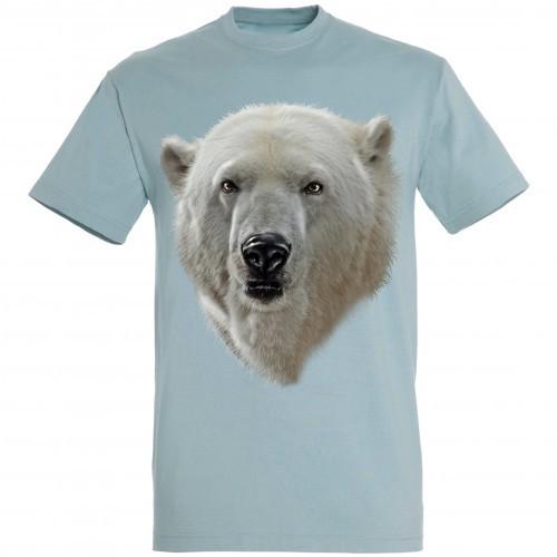 Camiseta Cabeza Oso Polar color Azul