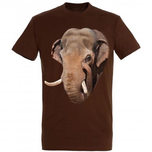 Camiseta Elefante asiático color Marrón