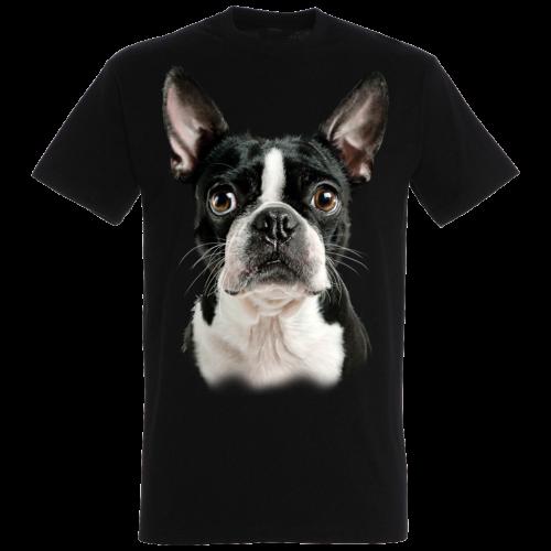 Camiseta Boston Terrier color Negro