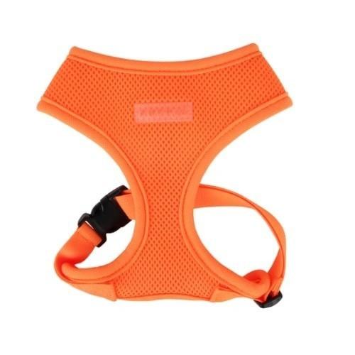 Arnés para perros Soft ajustable al cuerpo neón naranja