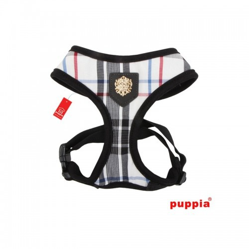 Arnés para perros Puppia Junior Soft color negro